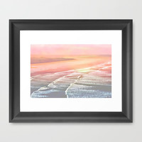 Pink Ocean Framed Art Print by  Alexia Miles photography