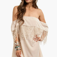 Esmerelda Off Shoulder Dress $36 (on sale from $52)