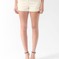 Textured High-Rise Trouser &lt;br&gt;Shorts