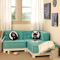 Cushy Lounge Sectional Set + Base | PBteen