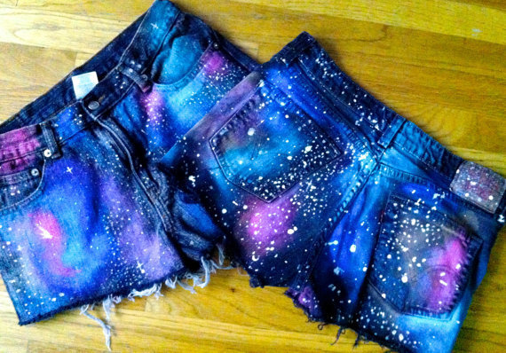 Galaxy Shorts from GutterGypsy on Etsy   Clothing Show