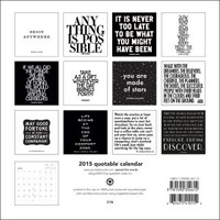 Quotable 2015 Black and White Calendar