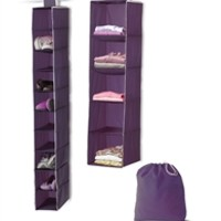 3-Piece College Closet Set - Eggplant Dorm Items Cool Stuff For Dorms College Essentials Must Have Dorm Organization