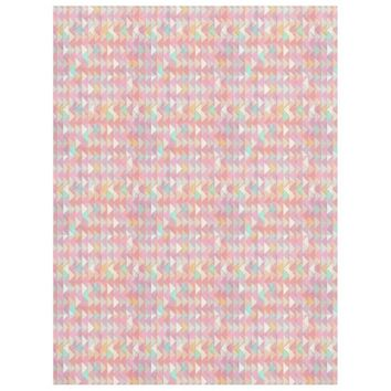 Pale Playful Chevron Fleece Blanket by KCS