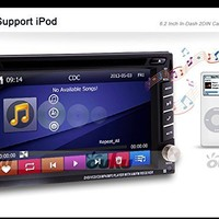 Ouku In-Dash Double-DIN Car Dvd Player with Touch Screen Lcd Monitor, 6.2-Inch