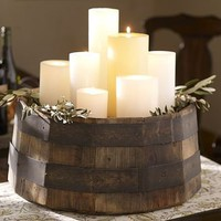 Wine Barrel Candle Tray | Pottery Barn