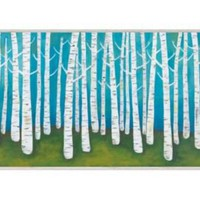 One Kings Lane - McGaw Graphics - Lisa Congdon, Springtime Birches, Framed