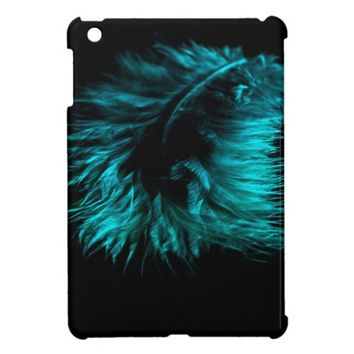 Feather in turquoise iPad mini case