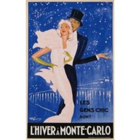 One Kings Lane - French Posters - Domergue, L'hiver à Monte-Carlo