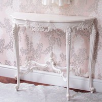 Marie Antoinette White Console Table
