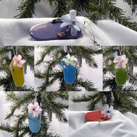 Custom Ceramic Ornament - Flip Flop Design Your Own