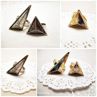 $3 Funky Geometric Triangle Rings