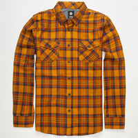 Element Mccoy Mens Flannel Shirt Yellow  In Sizes