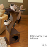 Little Lotus Cat Tree- Unique Cat Furniture, Modern, Luxury