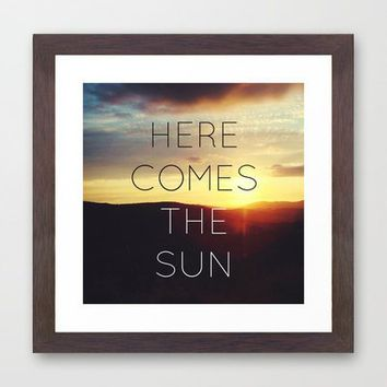 Here It Comes Framed Art Print by Galaxy Eyes | Society6