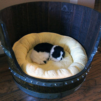 Wine Barrel Pet Bed