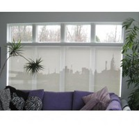 Melissa Borrell Design Manhattan Skyline Fantasy Shade - Fabric Panels - Wall Art - Category