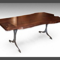 Live edge claro walnut table - Farm tables - Furniture