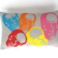 pop art on linen pillow