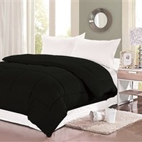 Natural Cotton Twin XL Comforter - College Ave - Black