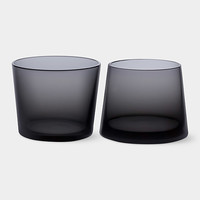 Black Whiskey Glass Set