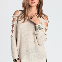 Too Far Gone Sweater by Aryn K - $66.00: ThreadSence, Women&#x27;s Indie &amp; Bohemian Clothing, Dresses, &amp; Accessories