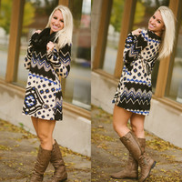 Wherever You Are Tunic Dress - Piace Boutique