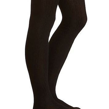 Cable Knit Tights by Charlotte Russe