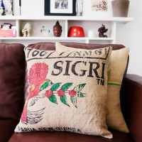 SIGRI - Burlap Coffee Sack Cushion