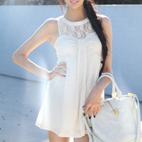 SABO SKIRT  Ivy Dress - Cream - $42.00
