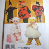 New Simplicity Pattern Halloween Costume Infant toddler sizes 1/2 1 2 3 4  witch ladybug pumpkin duck lamb