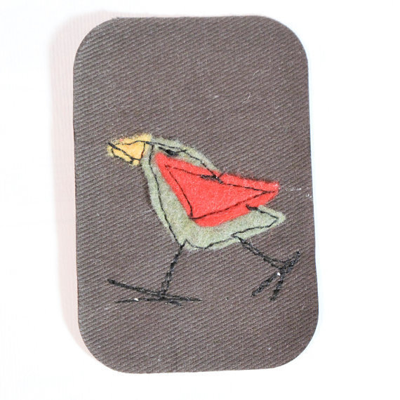 Missy Olive Birdy iron on patch