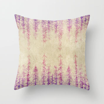 Deep in the woods Throw Pillow by rskinner1122