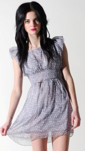 PrettySunday ? Grey heart print dress 4391