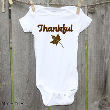 Thankful Thanksgiving Onesuits®, Baby, toddler, kids, Fall Shirt
