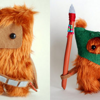 Star Wars Ewok Dark Green and Chewie