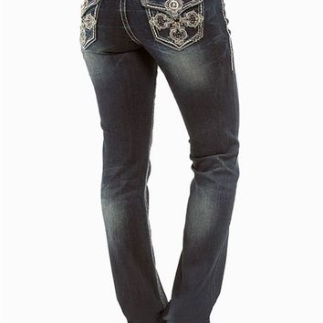 Grace in LA Baby Boot Mesh Cross Jeans