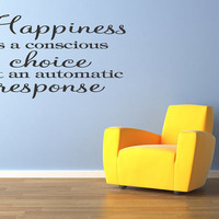 Happiness is A Choice Vinyl Wall Decal Quote Home Decor Inspirational Lettering (67)