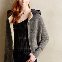 Galtee Hooded Sherpa Sweater by Moth Dark Grey