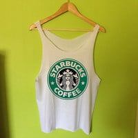 Starbucks Logo Printed Tee Shirt Tank