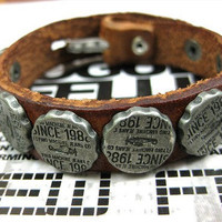 Brown Leather Silvery Rivet Women Jewelry Bangle Leather Bracelet Men Leather Bracelet  SL0125