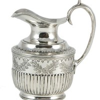 LavishShoestring | Spectacular Antique English Silver Plated Milk Jug with Gadroon Decoration