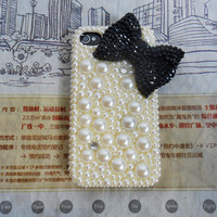 iphone 4 4S hard Case Cover with pearl For iPhone 4 Case, iPhone 4 S Case, iPhone 4 G S Case,iPhone hand case cover   -154