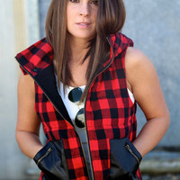 Check Mate Vest {Red}