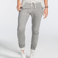 Full Tilt Womens French Terry Jogger Pants Grey  In Sizes