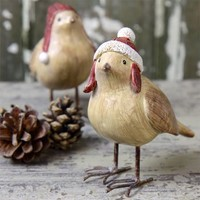 Christmas Woolly Hat Bird Ornament