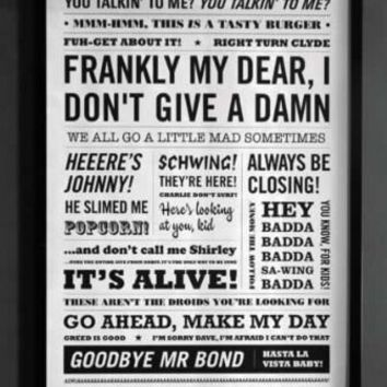 Limited Edition Ink Posters - Film Quotation Print - Exclusive to Rockett St George