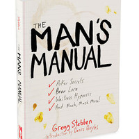THE MAN'S MANUAL | man manual, book of tips, tips for men | UncommonGoods
