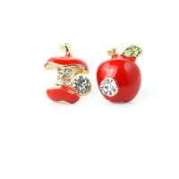 Apple Stone Stud Earrings - New Arrivals - Retro, Indie and Unique Fashion