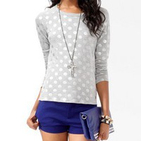 Metallic Polka Dot Top